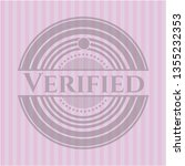 verified badge with pink... | Shutterstock .eps vector #1355232353