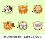 cute cartoon animals collection.... | Shutterstock .eps vector #1355237039