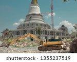built a pagoda in thailand... | Shutterstock . vector #1355237519