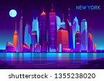 modern new york city cartoon... | Shutterstock .eps vector #1355238020