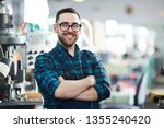 waist up portrait of cheerful...   Shutterstock . vector #1355240420