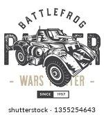 battle frog panser | Shutterstock . vector #1355254643