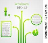 green infographics vector... | Shutterstock .eps vector #135525728