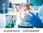 scientist student  looking...   Shutterstock . vector #1355268389