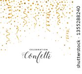 falling confetti and serpentine ... | Shutterstock .eps vector #1355288240