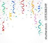 confetti and serpentine falling ... | Shutterstock .eps vector #1355288249