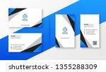 blue geometric professional... | Shutterstock .eps vector #1355288309