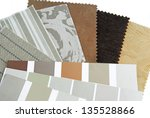 upholstery tapestry color... | Shutterstock . vector #135528866
