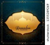awesome ramadan kareem greeting ... | Shutterstock .eps vector #1355289269