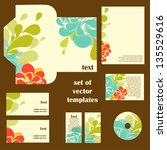 corporate identity  set of... | Shutterstock .eps vector #135529616
