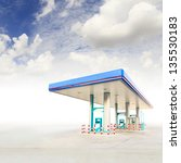 gas station and blue sky | Shutterstock . vector #135530183