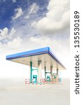 gas station and blue sky | Shutterstock . vector #135530189