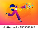 public relations and affairs ... | Shutterstock .eps vector #1355309549