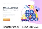 people building career pyramid...   Shutterstock .eps vector #1355309963
