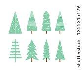 christmas trees icon set...   Shutterstock .eps vector #1355315129
