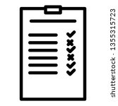 business listing outline icon...