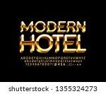 vector chic emblem modern hotel ... | Shutterstock .eps vector #1355324273