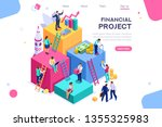 communication  economy project  ... | Shutterstock .eps vector #1355325983