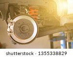 disc brake of the vehicle for... | Shutterstock . vector #1355338829