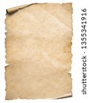 Small photo of Vintage paper textured object isolated on white