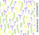 colorful hand drawn floral... | Shutterstock .eps vector #1355344079
