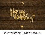 golden happy birthday...   Shutterstock .eps vector #1355355800