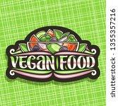 vector logo for vegan food ... | Shutterstock .eps vector #1355357216