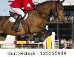 rider and horse in equestrian...