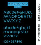 technologu font design | Shutterstock .eps vector #1355363210