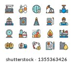 set of oil and petrol industry... | Shutterstock .eps vector #1355363426