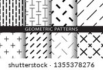 a set of geometric patterns | Shutterstock .eps vector #1355378276