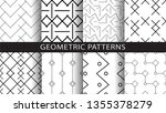 a set of geometric patterns | Shutterstock .eps vector #1355378279