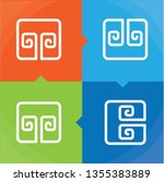 four elements abstract  symbols ... | Shutterstock .eps vector #1355383889