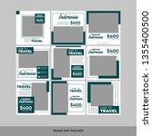 set of modern promotion square... | Shutterstock .eps vector #1355400500