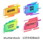 set of geometric square... | Shutterstock .eps vector #1355408663
