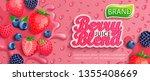 fresh berry blend juice splash... | Shutterstock .eps vector #1355408669