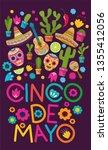 cinco de mayo pattern background | Shutterstock .eps vector #1355412056