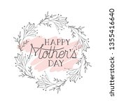 happy mothers day card with... | Shutterstock .eps vector #1355416640