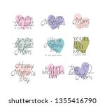 happy mothers day card set...   Shutterstock .eps vector #1355416790