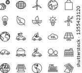 thin line vector icon set  ... | Shutterstock .eps vector #1355423120