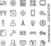 thin line vector icon set  ... | Shutterstock .eps vector #1355423159