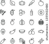 thin line vector icon set  ... | Shutterstock .eps vector #1355432480