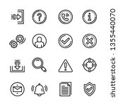 basic interface icon set | Shutterstock .eps vector #1355440070