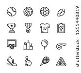 sports icon set | Shutterstock .eps vector #1355440319