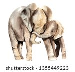 watercolor animals   african... | Shutterstock . vector #1355449223