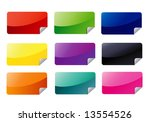 rectangle web stickers | Shutterstock .eps vector #13554526