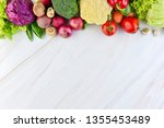 fresh colorful healthy... | Shutterstock . vector #1355453489