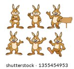 bunny with cartoon style set | Shutterstock .eps vector #1355454953