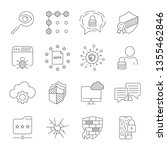 gdpr concept  line vector icons....