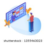 tv game show on screen... | Shutterstock .eps vector #1355463023
